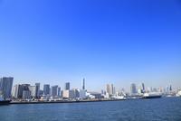 東京港より品川埠頭とビル群