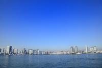 東京港よりビル群とスカイツリー