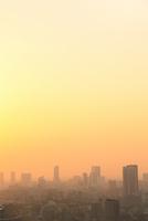 浜松町より東京のビル群の夕焼け