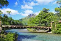 夏の上高地 河童橋と梓川より焼岳
