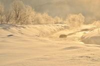 霧氷と松川雪景色