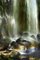 安達太良山西麓 達沢不動滝と虹