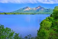 新緑の裏磐梯 檜原湖と磐梯山