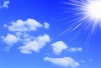 青空に雲と太陽