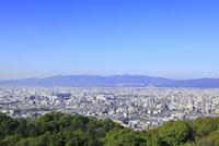 東山・将軍塚の市営展望台から望む京都市街