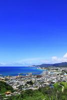 沖縄本島 名護湾と名護市の街並み