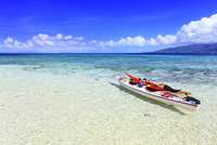 沖縄西表島 バラス島と海 11076019358| 写真素材・ストックフォト・画像・イラスト素材|アマナイメージズ