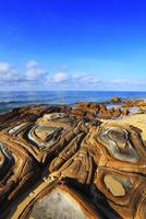 沖縄西表島 南風見田の浜・畳石と海