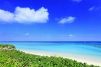 沖縄波照間島 ニシ浜と海 11076019658| 写真素材・ストックフォト・画像・イラスト素材|アマナイメージズ