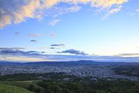 若草山から望む奈良市街の夕景