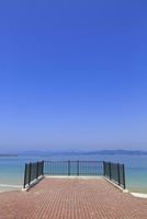 御座白浜海岸 浜辺のテラス