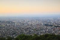 藻岩山山頂展望台から望む市街夕景