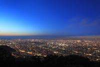 藻岩山山頂展望台から望む市街夜景
