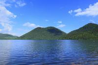 然別湖と天望山