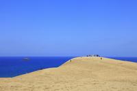 鳥取砂丘と日本海 11076021510| 写真素材・ストックフォト・画像・イラスト素材|アマナイメージズ