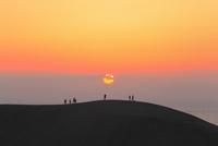 鳥取砂丘と夕日