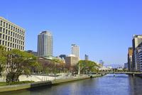 中之島 中之島公園・大阪市街と土佐堀川 11076023803| 写真素材・ストックフォト・画像・イラスト素材|アマナイメージズ