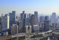 梅田スカイビル屋上から望む大阪市街