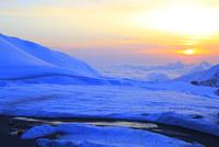 立山黒部 室堂より望む夕日と雲海
