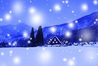 冬の白川郷・降雪夜景