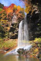 夫婦滝と紅葉に虹