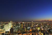 大阪・梅田のビル群夜景