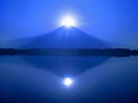 田貫湖のダブルダイヤモンド富士山