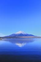 山中湖より富士山(逆さ富士) 11076025162| 写真素材・ストックフォト・画像・イラスト素材|アマナイメージズ