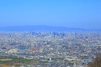 大阪のビル群と街並み遠景 11076025316  写真素材・ストックフォト・画像・イラスト素材 アマナイメージズ