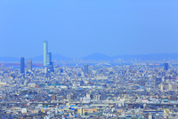 あべのハルカスと大阪の街並み