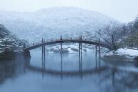 雪の栗林公園・偃月橋