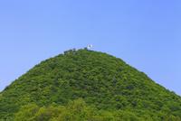 白山と日本の国旗