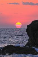 室戸岬のダルマ夕日