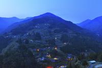 落合集落の夜景