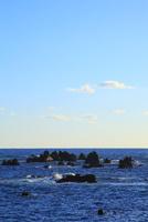 室戸岬の岩と波
