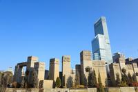 天王寺公園から望むあべのハルカス 11076027038  写真素材・ストックフォト・画像・イラスト素材 アマナイメージズ