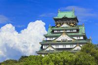 入道雲と大阪城天守閣