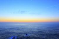 足摺岬の夜明けと海