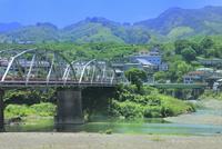 九度山の町と紀ノ川