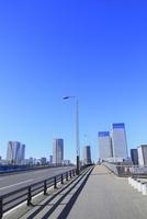 晴海大橋の道路とビル群 11076028396  写真素材・ストックフォト・画像・イラスト素材 アマナイメージズ