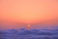 鳥海ブルーラインより雲海と夕日