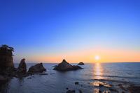 笹川流れと夕日