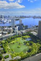 国際貿易センタービルより旧芝離宮恩賜庭園と東京湾