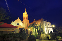 函館 カトリック元町教会のライトアップ