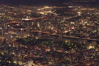 札幌,もいわ山山頂展望台から望む市街夜景