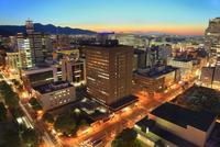 札幌,さっぽろテレビ塔より望む市街夜景