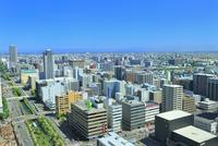 札幌,さっぽろテレビ塔より望む創成川と市街
