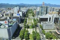 札幌,さっぽろテレビ塔より望む大通公園