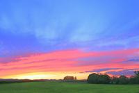 美瑛 新栄の丘と夕焼け