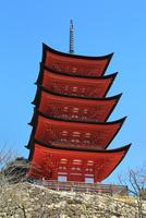 宮島 豊国神社の五重塔